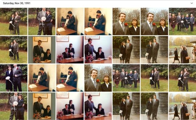 Margaret & Ian Wedding collage