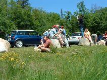 MOT2003 lunch stop on Bear Notch Road