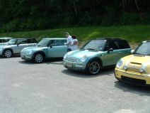 Green MINIs at MOT2003