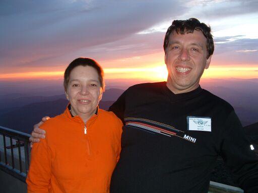 Ian & Margaret on top of Mount Washington