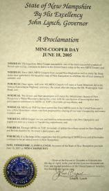 MINIsOnTop MOT2005 proclamation