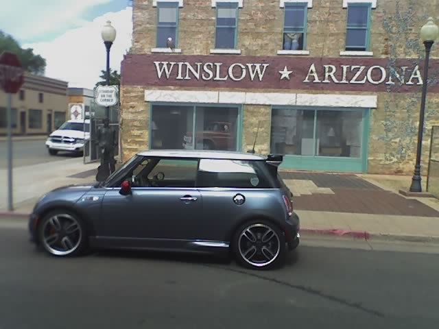 "Winslow, AZ ""standing on the corner"" (phone pic)"