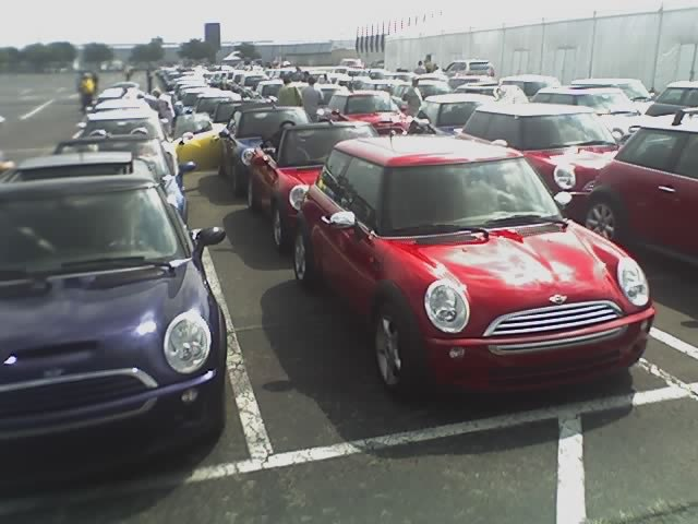 Lined up for the track (phone pic)