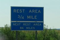 Long way between rest stops!