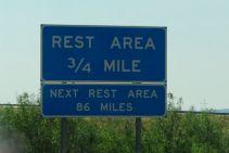 Long way between rest stops!