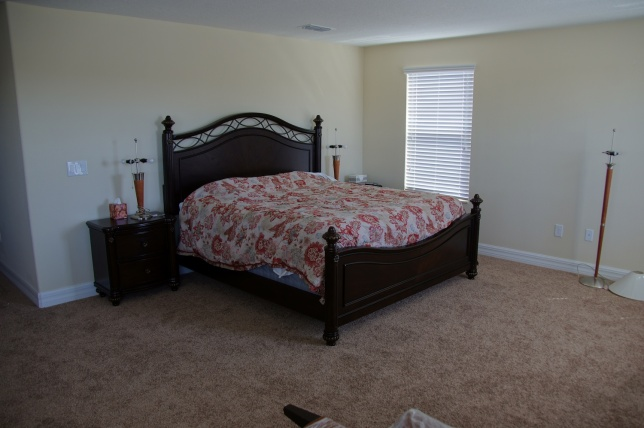 Master bedroom, a bit sparse but enough to sleep