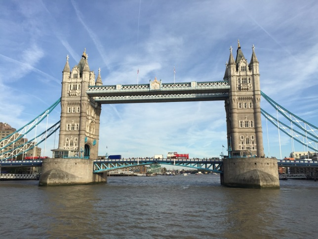 Tower Bridge from the river Thames