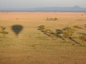 Balloon flight over Grumeti