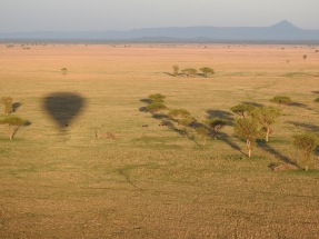 Balloon flight over Grumeti