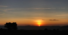 Sunrise over Ngorongoro Crater