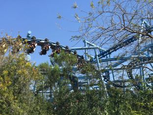 Flying School roller coaster at Legoland