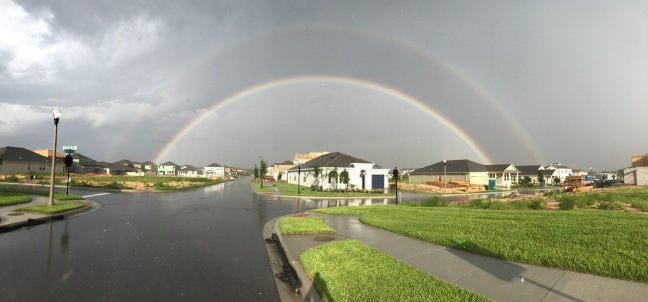 Rainbow circle continues below ground