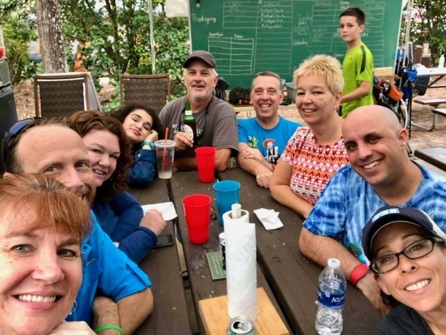 Friends (including organizer Dan at the back)